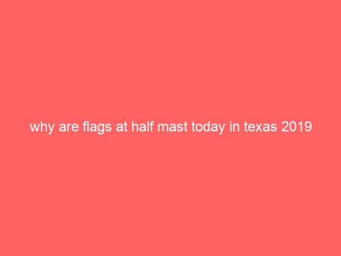 why are flags at half mast today in texas 2019 713