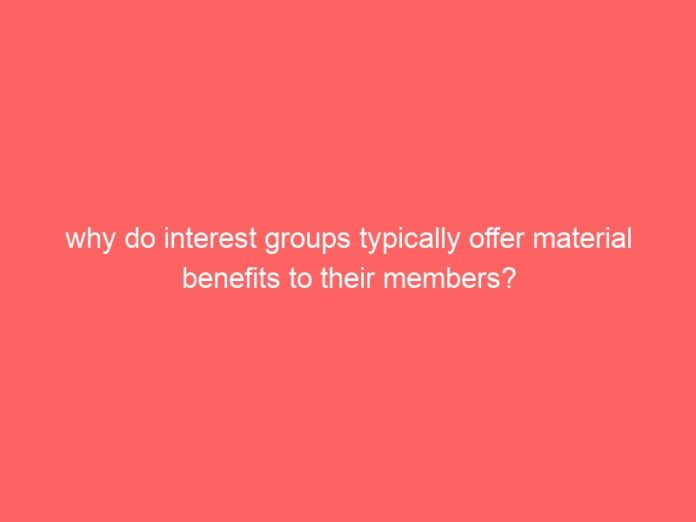 why do interest groups typically offer material benefits to their members 603